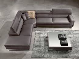 Corner Settees And Sofas Contemporary Gray Leather Corner Recliner Sofa For The Home