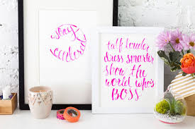 15 trendy typography decor finds that go beyond live laugh love 7 diy brush calligraphy aspirations instead of depending on a pinterest pin to inspire you craft your own framed phrases to fuel your aspirations