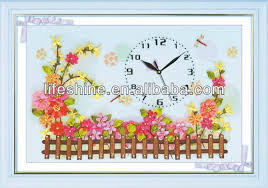 buy ribbon clock with ribbon landscape ribbon work embroidery designs wall