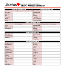 free application form credit application form 04 40 free credit
