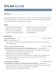 family nutrition consultants consultant dietitian resume sample