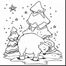 excellent winter polar bear coloring page with polar bear coloring