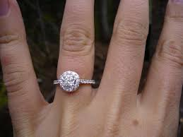 1 carat halo engagement ring would to see picture of halo rings on fingers weddingbee