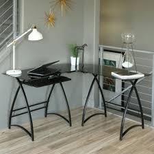 Glass Corner Computer Desks For Home Desks White Glass Computer Table Glass And Metal Corner Desk