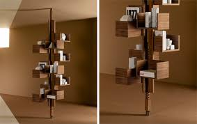 classic rotating bookcase gets a modern modular update