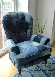 denim upholstered armchair recycled denim ideas pinterest