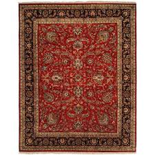 10 Square Area Rugs Kabir Red Ivory Wool And Silk Hand Knotted Square Area Rug 10 U0027 X