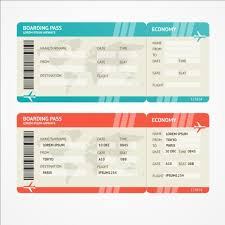 airline tickets template design vector 07 download my free