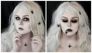 living dead ghost halloween makeup tutorial spiders youtube