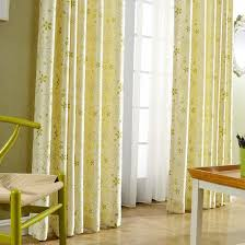 Yellow Curtains Nursery Yellow Botanical Print Velvet Nursery Grommet Curtains