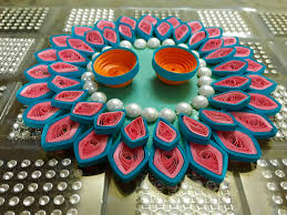 quilled rakhi thali quilling platter out of waste cd 11 youtube