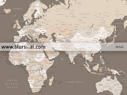 Printable World Map Printable World Map With Cities Labelled Large 36x24