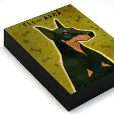 personalized box personalized dog box doberman with your dog s name mounted