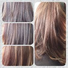 how to blend grey hair with highlights my haircolouring work maria s hairstyling