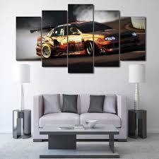 rally race car drifting 5 piece wall art on canvas ash wall decor rally race car drifting 5 piece wall art on canvas ash wall decor wall