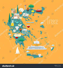 Ancient Italy Map Stock Photos by Map Greece Islands Vector Illustration Design Stock Vector