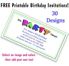 printable party invitations free printable party invitations for kids