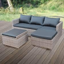 Garten Loungemobel Anthrazit Poly Rattan Lounge Möbel Gartenset Garnitur Polyrattan Gartenmöbel