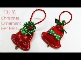 d i y chrismas ornament felt bells myindulzens