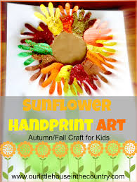 sunflower handprint art 2 u2013 autumn fall art activities for kids