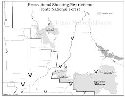Map Of Scottsdale Arizona by Tonto National Forest Target Shooting