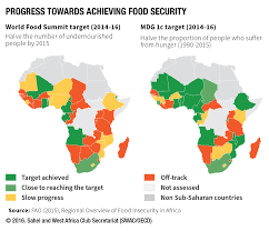 World Hunger Map progress towards achieving food security west africa gateway