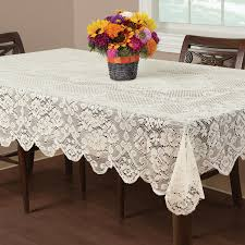 essential home buckingham lace tablecloth ivory shop your way