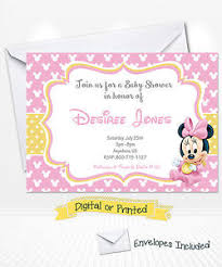 minnie mouse baby shower invitations printed baby minnie mouse baby shower invitations minnie party