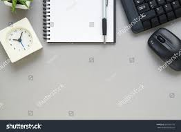 Office Desk Top View Desk Above Table Top View Office Stock Photo 507382195 Shutterstock