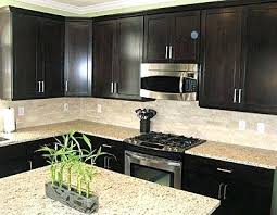 Backsplash For Kitchen With Granite Espresso Kitchen Cabinets With White Subway Tile Backsplash