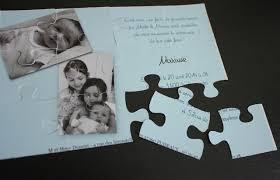 faire part mariage puzzle faire part naissance puzzle moderne