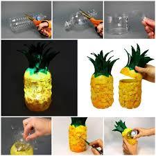 Diy Plastic Bottle Vase Diy Pineapple Lamp From Plastic Bottles