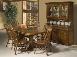 China Cabinet And Dining Room Set Country Style Dining Room With Cappuccino Finish China Cabinet