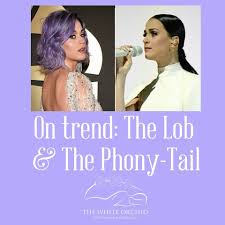 on trend the lob the on trend the lob the phony tail katy perry sported two