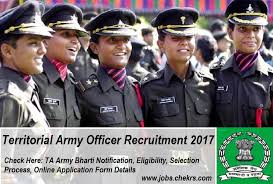 territorial army officer recruitment 2017 ta army bharti apply
