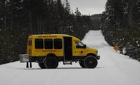the best way to get around yellowstone in the winter picture of