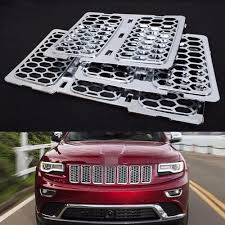 jeep front grill front chrome honeycomb mesh grille grill inserts trim for jeep