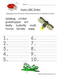 alphabetical order worksheets have fun teaching