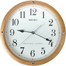 seiko qxr303z radio controlled wooden wall clock co uk