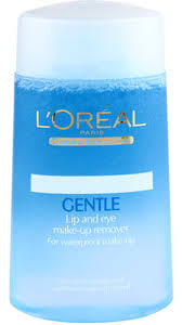 loreal paris gentle lip and eye makeup remover 125 ml