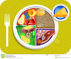 food my plate dinner portions royalty free stock photography