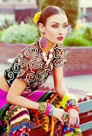 Mixed Patterns by Spanish And Mexican Inspired Fashion Photo Shoot Colorful Bright