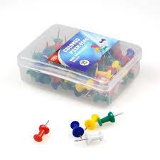 Pushpins Deli 0031 Colourful Thumb Tacks Decorative Push Pins Assorted