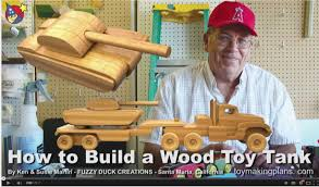 Making Wooden Toy Trucks by Wood Toy Plans Make A Wood Toy Tank Youtube