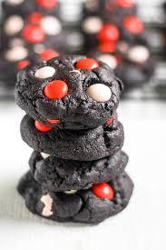 dark chocolate halloween cookies thestayathomechef com