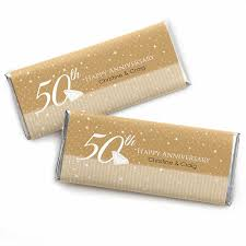 50th anniversary favors 50th anniversary personalized wedding anniversary candy bar