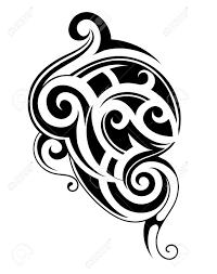 vector illustration with tribal tattoo design maori origin