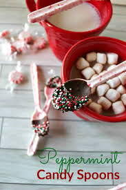 diy peppermint candy spoons princess pinky