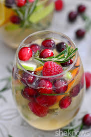 white christmas sangria will get you in the holiday spirit snow