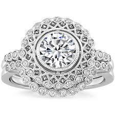 diamond bridal sets 18k white gold alvadora diamond bridal set brilliant earth